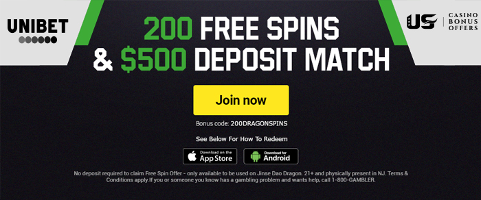 unibet 200 free spins
