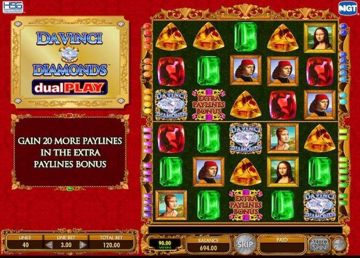 da vinci diamonds slot dual play