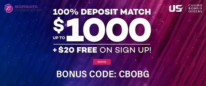 borgata casino bonus 1000